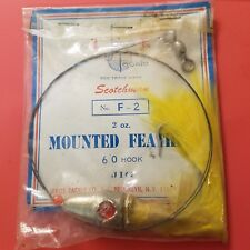 Vintage New Jeros Tackle Wired Mounted Feather Jig 2oz. Usa Made
