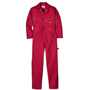 New  Dickies  Deluxe Coverall Red 100% Cotton Small - Short 34 / 36