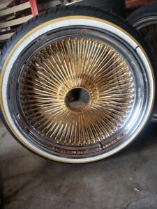 """Dayton Wire Wheel 22"""" OTD Center Gold *Read Description* (1)"""