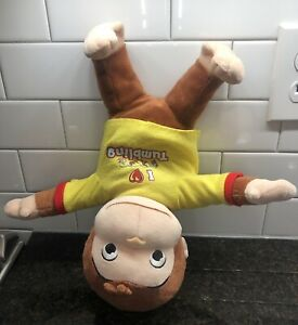"Marvel Toys Curious George Plush Tumbling Doll  14"" Heavy Head"