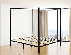 4 Four Poster King Bed Frame Bedroom Furniture