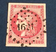 France N° 49 b 80 C Rose Vif Obli (PC) Signe Calves Superbe Nuance  Cote 470€