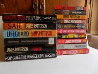 16 JAMES PATTERSON Book Lot 6 Hardcover 10 Paperback Private Sail Lifeguard