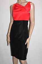 City Dressing Designer Black Red Fitted Dress with Bow Size 10 BNWT #SP31