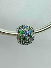 Genuine Authentic Pandora Silver Ocean Mosaic Pave Charm - 791261MCZMX