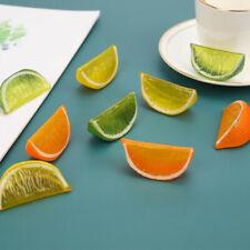 3pcs Artificial Fruit Simulation Lemon Slices Fake Model Kitchen Decorat ilUSLM