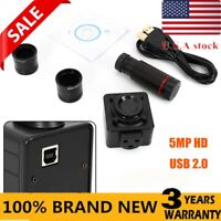 5MP HD USB 2.0 Microscope Eyepiece Camera Video Digital Electronic Eyepiece Lens