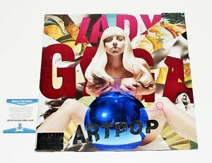 LADY GAGA SIGNED 'ARTPOP' ALBUM VINYL RECORD LP BECKETT COA BAS THE FAME JOANNE