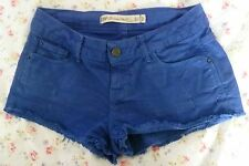 ZARA TRF Royal Blue Premium Wash Denim Shorts / Hot Pants - Size 6