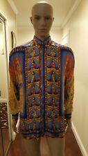 Men Elegant Vintage 100% Silk V2 VERSACE Shirt SIZE M