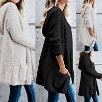Women Long Sleeve Oversize Loose Knitted Sweater Jumper Cardigan Outwear Coat