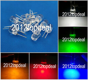 10 100 2pin 10mm 0.5W Super Bright High Power LEDs (Red Green Blue White )