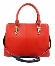 Ladies Fashionable Synthetic Leather Bag Sling Top Handle Shoulder Bag (Red)