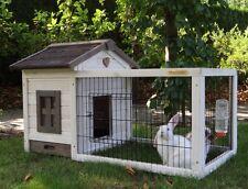 Casetta gabbia   conigliera  per roditori conigli  con recinto L 108 cm
