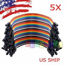 5X 40pcs 10cm Female To Female Dupont Wire Jumper Cable for Arduino Breadboard