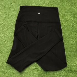"Lululemon Wunder Under Leggings High Waisted Yoga Pants Black 32"" Inseam Size 8"