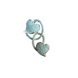 Nice Natural 0.68cts Diamond 18k Gold heart Pendant 17.31ct AU750 Necklace 45cm