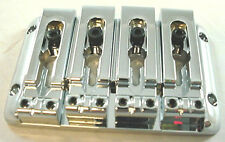 8 STRING BASS GUITAR BRIDGE - 8 string CHROME