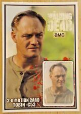 The Walking Dead TOBIN 3-D- MOTION CARD ONLY 250 PRODUCED JASON DOUGLAS