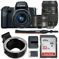 Canon EOS M50 Mirrorless Digital Camera (Black) Bundle