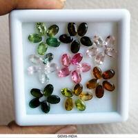 6X4mm/40 Pcs/16+ Ct Oval Shape Natural Tourmaline Fancy Color Unheated Gemstones