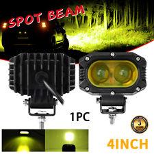 Amber 4Inch LED Work Light Bar Spot Pods Fog Offroad For Jeep ATV SUV Truck Boat