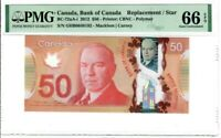 Canada $50 Dollar Banknote 2012 BC-72aA-i PMG GEM UNC 66 EPQ Replacement / Star