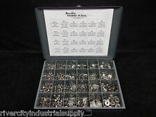 Metric Stainless steel Lock Nuts & Extra Thick Flat Washers and lock washers NEW