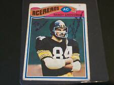 Steelers Randy Grossman Signed 1977 Topps Mexican #159