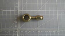 12mm banjo for -3 PTFE stainless hose straight plated steel UK made brake hoses