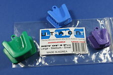 Dental Silicone Mouth Prop Bite Blocks Tattoo Tongue Piercing Rubber 3Pcs S,M,L