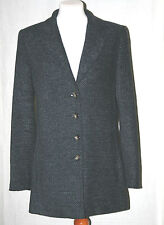 OLSEN COLLECTION (UK12 / EU40) BLACK/BLUE/GREY FULLY-LINED JACKET WITH 20% WOOL