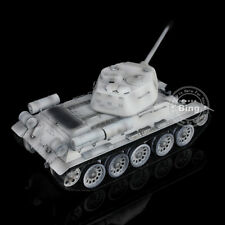 HengLong 1/16 Winter Snow Russian T34-85 RTR RC Tank Model Basic Plastic 3909