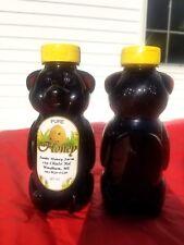 100% Natural Raw Unfilitered Dark Wildflower Honey - set of 2