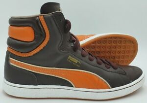 Puma First Round Mid Leather Vintage Trainers 348960 04 Brown UK9.5/US10.5/EU44