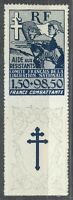 France 1943 MNH Mi 6Zf Sc B1 Resistance Fighters.French Committee of Liberation