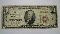 $10 1929 Corvallis Oregon OR National Currency Bank Note Bill Ch. #4301 FINE!