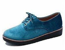 Zapatos planos de mujer azules sin marca