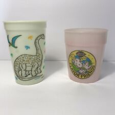 Vintage Lot of 2 Dairy Queen Plastic Cups 1993 Glow in Dark & 1991 Color Change