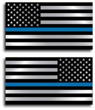Thin Blue Line Sticker American Flag Decal Fallen Officer Blue Lives Matter