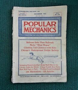 Vintage November 1906 Popular Mechanics Magazine