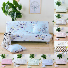 Floral Stretch Sofa Bed Cover Armless Elastic Futon Slipcover Couch Cover CN