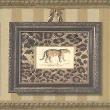 Leopard Skin Print in Frames - Golden Brown - ONLY $9 - Wallpaper Border 576