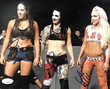 WWE THE RIOTT SQUAD HAND SIGNED AUTOGRAPHED 8X10 PHOTO BY ALL 3 WITH JSA COA