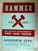 1972 WEST HAM UNITED v LEICESTER CITY, 19 Aug (League Division One)