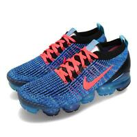 Nike Air Vapormax Flyknit 3 Blue Fury Flash Crimson Men Running Shoes AJ6900-401
