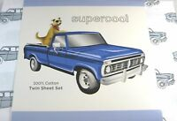 Supercool 3 Pc. Twin Size Sheet Set Cars 100% Soft Touch Cotton