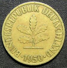 1950 J West Germany 10 Pfennig