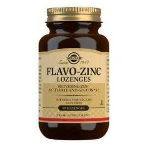 Solgar Flavo Zinc Lozenges - Pack of 50 trace mineral energy support