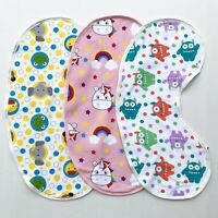 Yikes Twins Baby Bib/Burp Cloth Combo- Animals, Unicorn or Monster Print